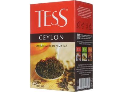 Черный листовой чай Tess Ceylon 100г